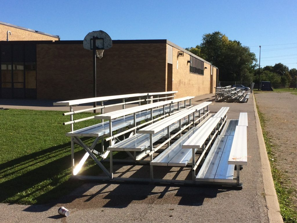 The Last Set of Bleachers Have Arrived
